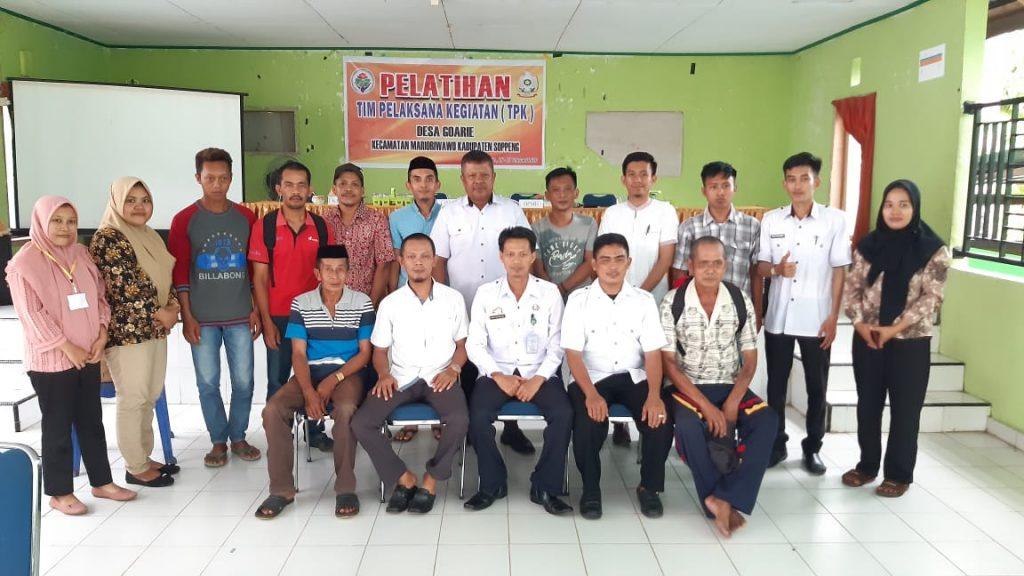 Pelatihan TPK Desa Goarie Tahun 2020